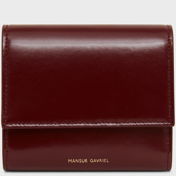 Mansur Gavriel Zip Card Holder - Black/Flamma