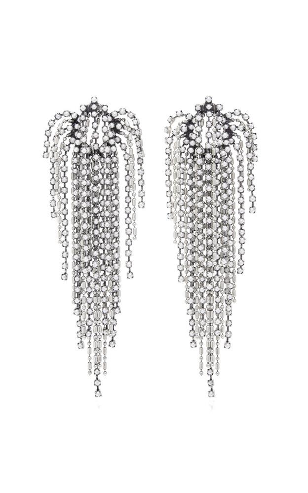 Dannijo Julia Pearl Waterfall Earrings in metallic