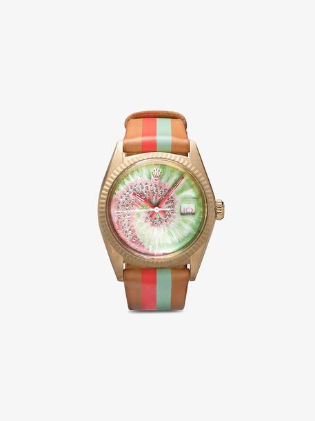 La Californienne x Browns swirl diamond Rolex watch in brown