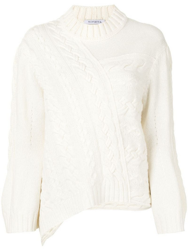 Vivetta cable-knit virgin wool jumper in white