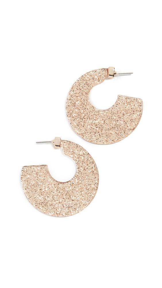 Stella + Ruby Stella + Ruby Glitter Resin Earrings in gold