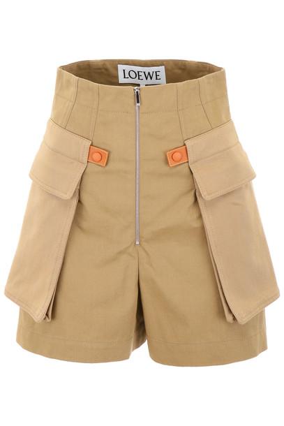 Loewe Cargo Shorts in beige