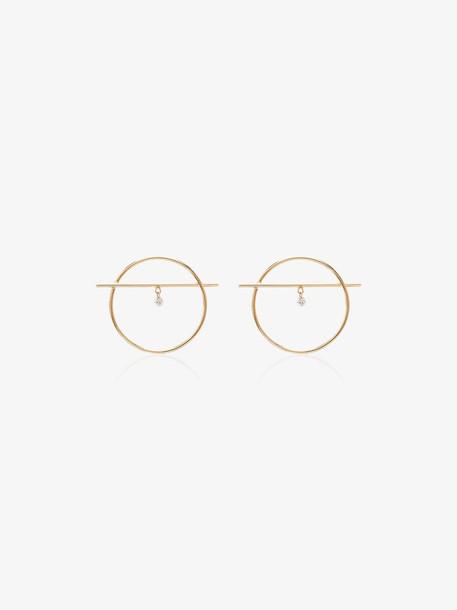 Persée 18K Yellow Gold Ring Diamond Earrings