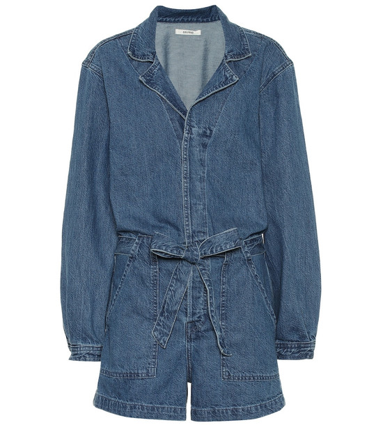 Grlfrnd Tianna denim playsuit in blue
