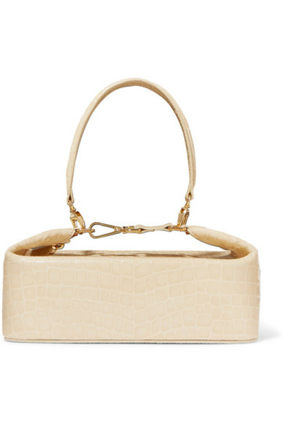 REJINA PYO - Olivia Croc-effect Leather Tote - Cream
