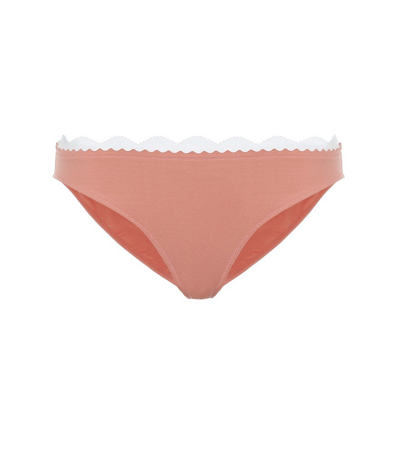 Stella McCartney Scalloped bikini bottoms in pink