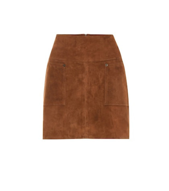 Arjé The Nora suede miniskirt in brown