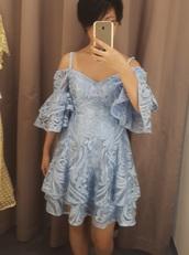 dress,off the shoulder dress,australia,2018,layered,ruffle