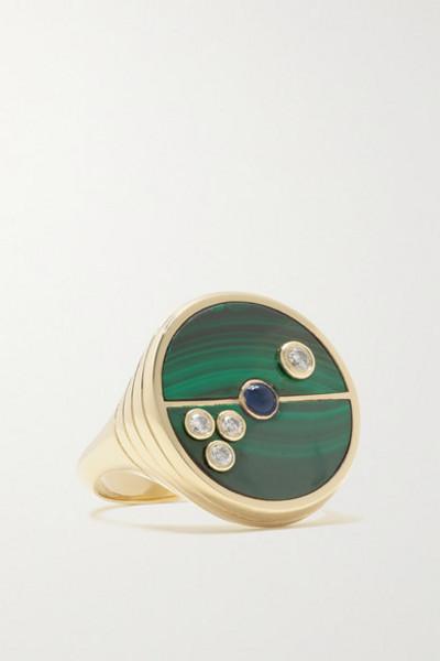 Retrouvaí Retrouvaí - Compass 14-karat Gold Multi-stone Ring