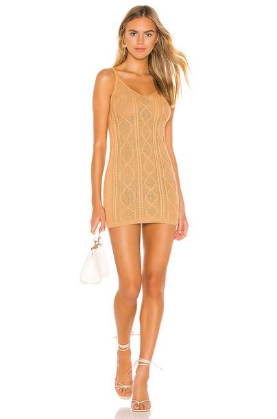 superdown Lexi Sweater Tank Dress in tan