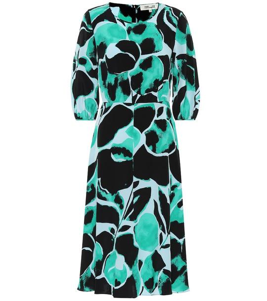 Diane von Furstenberg Bliss silk crêpe de chine dress in green