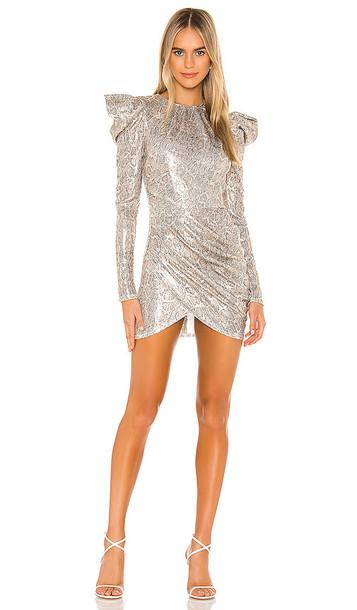 Michael Costello x REVOLVE Hugh Mini Dress in Metallic Gold