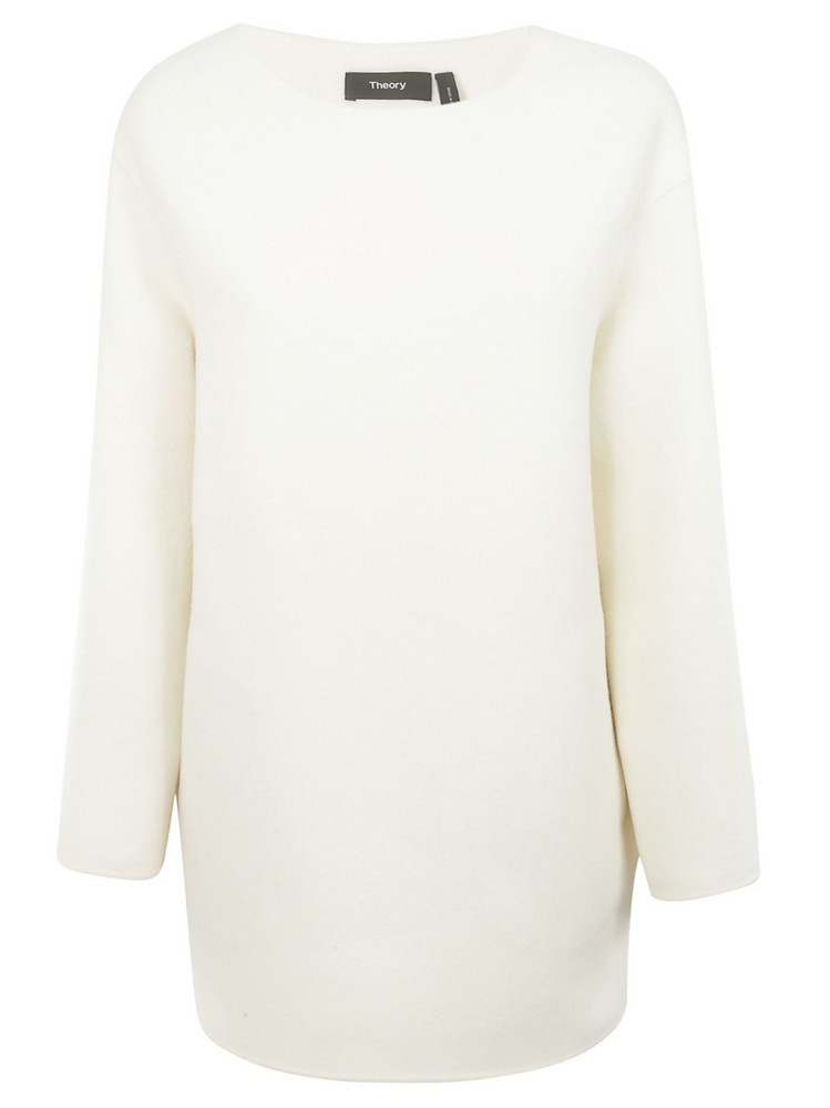Theory Oversized Sweater in ivory