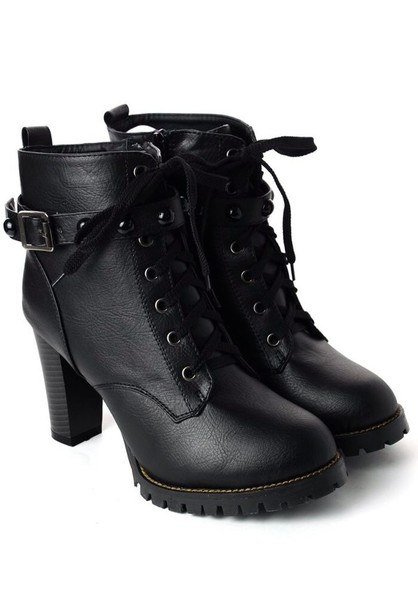 shoes military boots black boots black heels