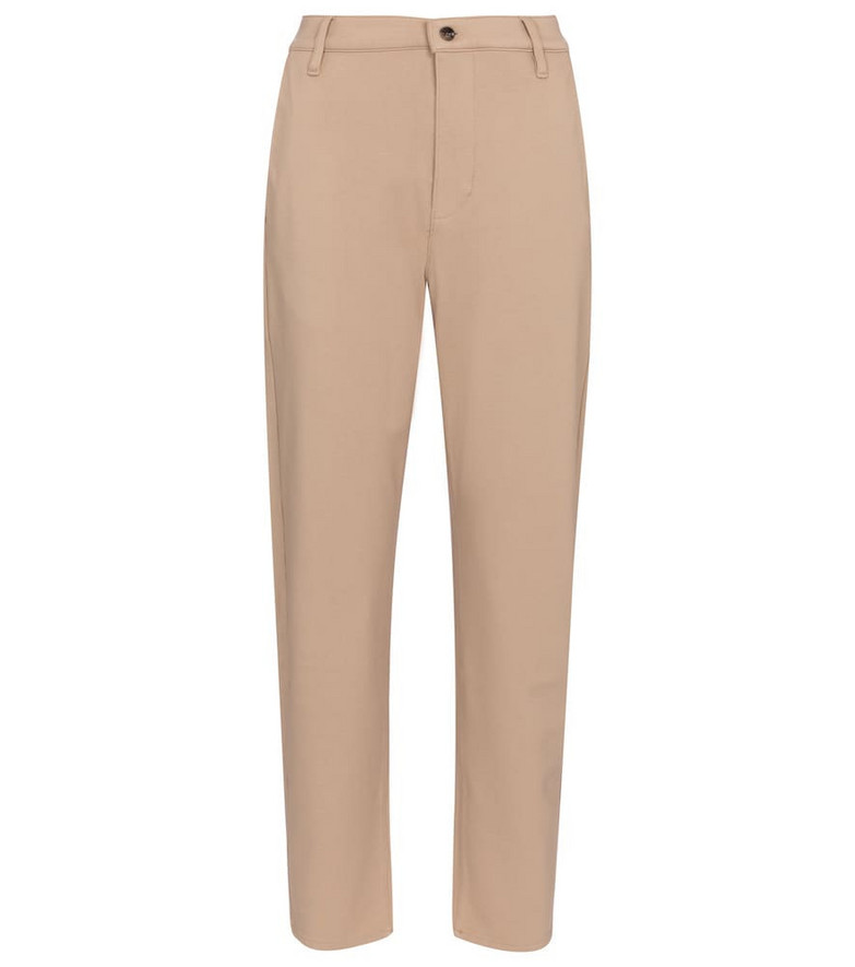 7 For All Mankind Stretch cotton-blend twill chinos in beige