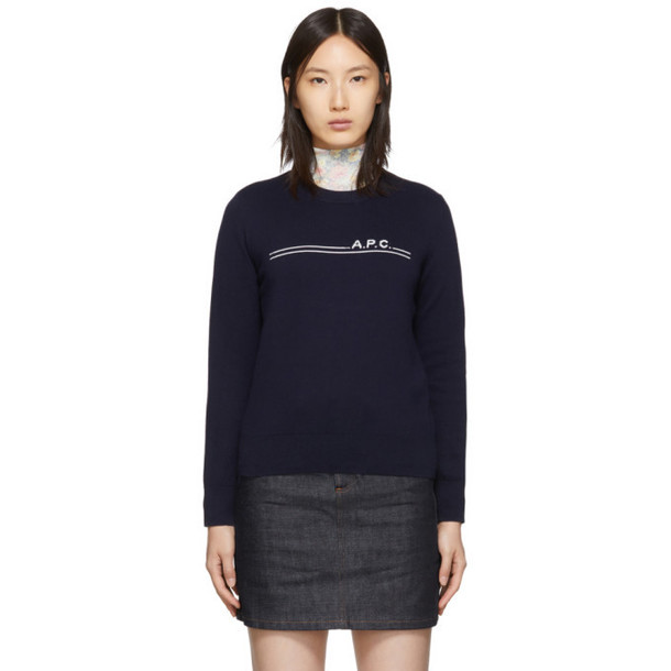 A.P.C. A.P.C. Navy Eponyme Sweater