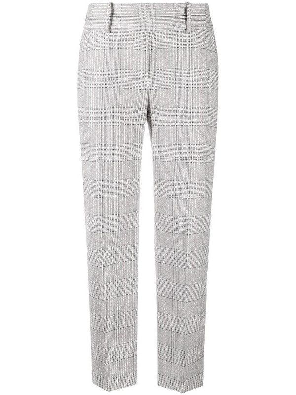 Ermanno Scervino cropped plaid trousers with metallic threading in grey