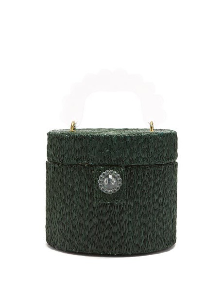 Shrimps - Lydia Acetate-handle Raffia Bag - Womens - Green