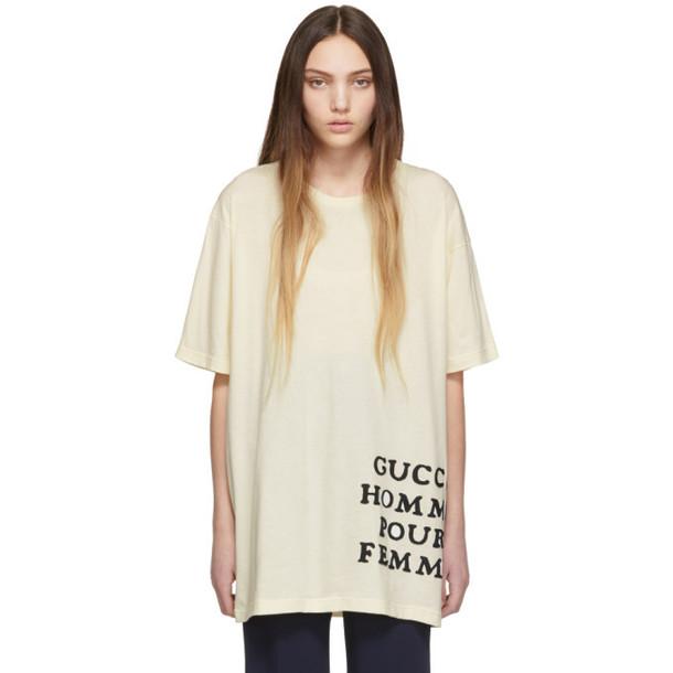 Gucci Ivory 'Homme Pour Femme' T-Shirt
