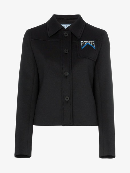 Prada Technical jersey jacket in black