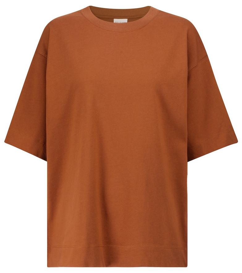 Dries Van Noten Cotton jersey T-shirt in brown