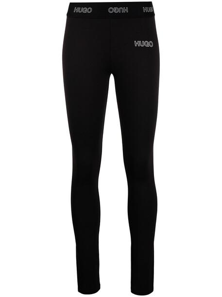 HUGO 3D logo leggings - Black