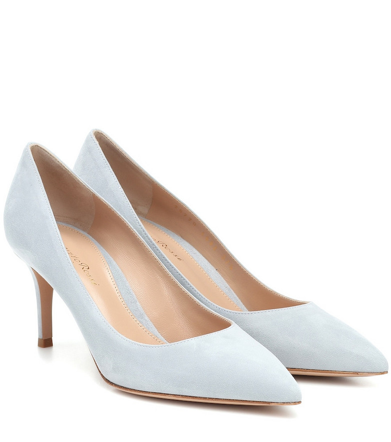 Gianvito Rossi Gianvito 70 suede pumps in blue