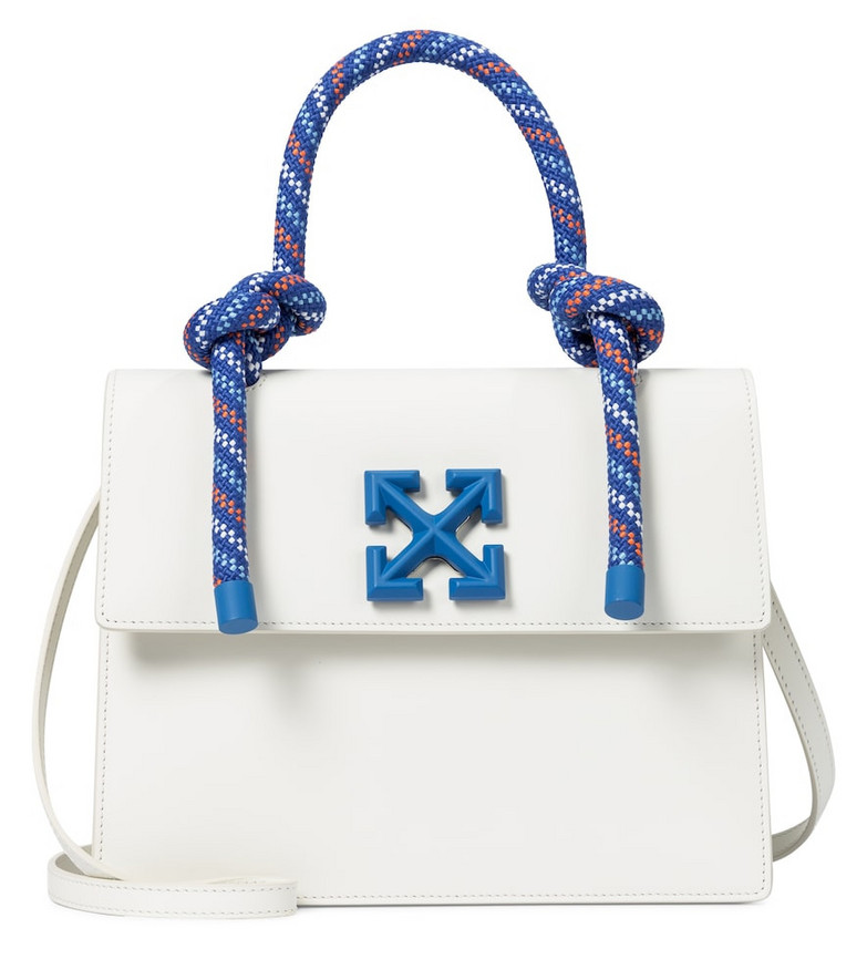Off-White Jitney 2.8 leather shoulder bag in white