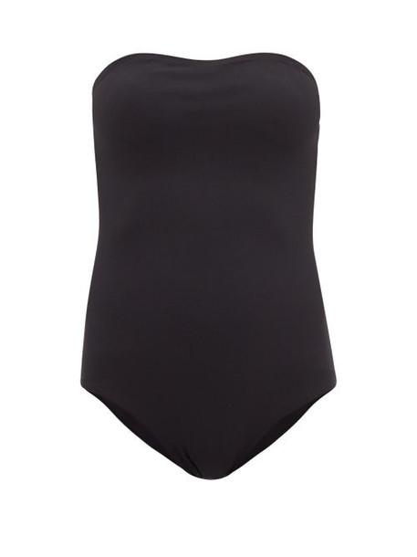 Albus Lumen - Strapless Mesh Swimsuit - Womens - Black