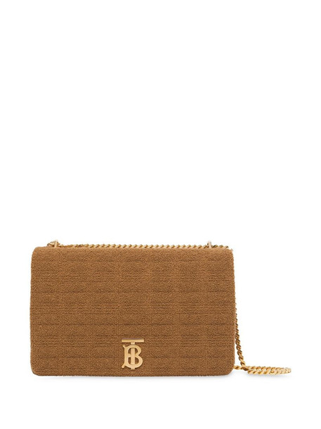 Burberry extra large quilted towelling Lola bag in neutrals