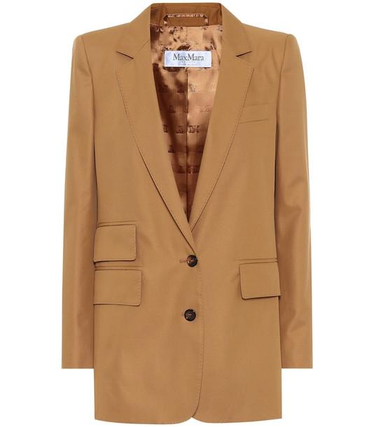 Max Mara Ronchi cotton blazer in beige