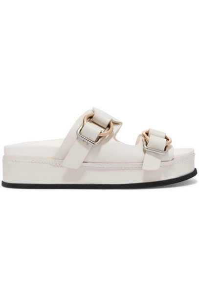 3.1 Phillip Lim - Freida Leather Platform Sandals - Off-white