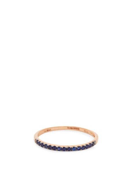 Rosa De La Cruz - Sapphire & 18kt Rose-gold Ring - Womens - Blue
