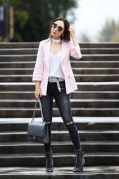 fit fab fun mom,blogger,tank top,jacket,jeans,belt,shoes,bag,sunglasses,jewels