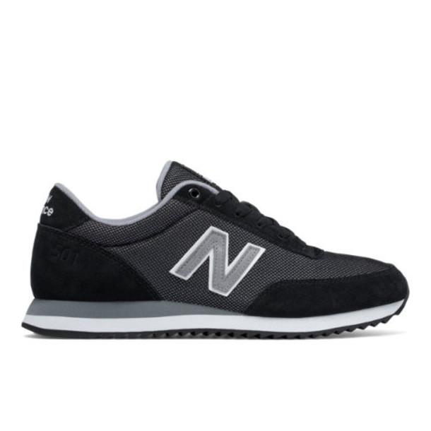 New Balance 501 Ripple Sole Men's Running Classics Shoes - Black/Grey (MZ501OCB)