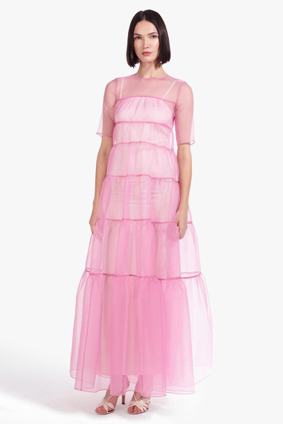 Staud HYACINTH DRESS | SHELL PINK