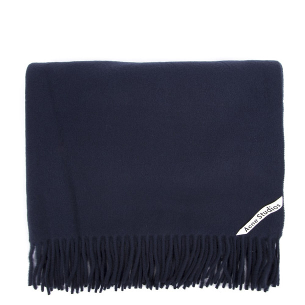 Acne Studios Oversized Blue Wool Scarf