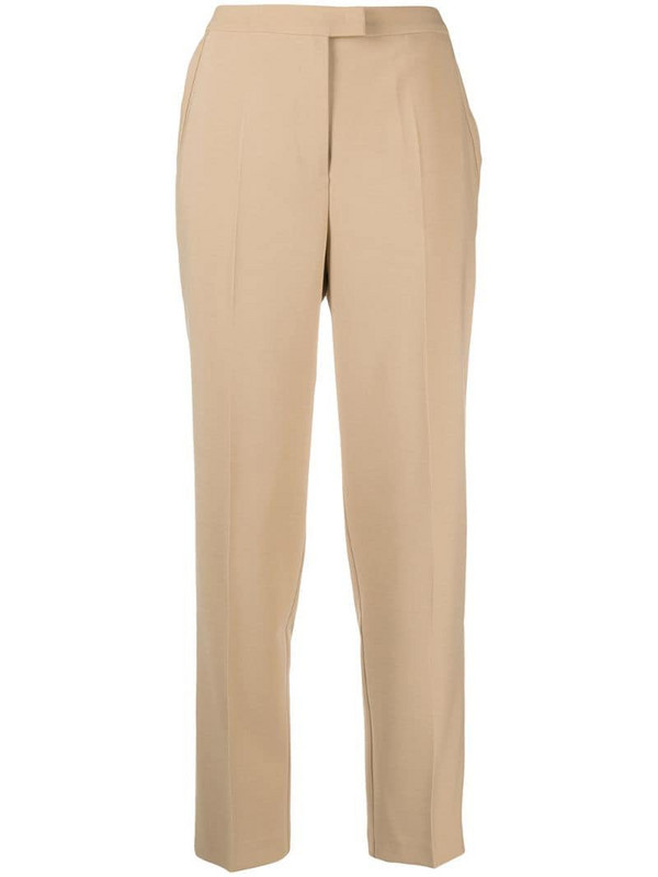 12 STOREEZ pressed-crease tailored trousers in neutrals