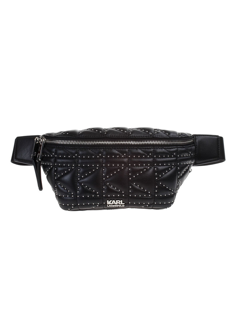 Karl Lagerfeld K / KUILTED pouch in nero