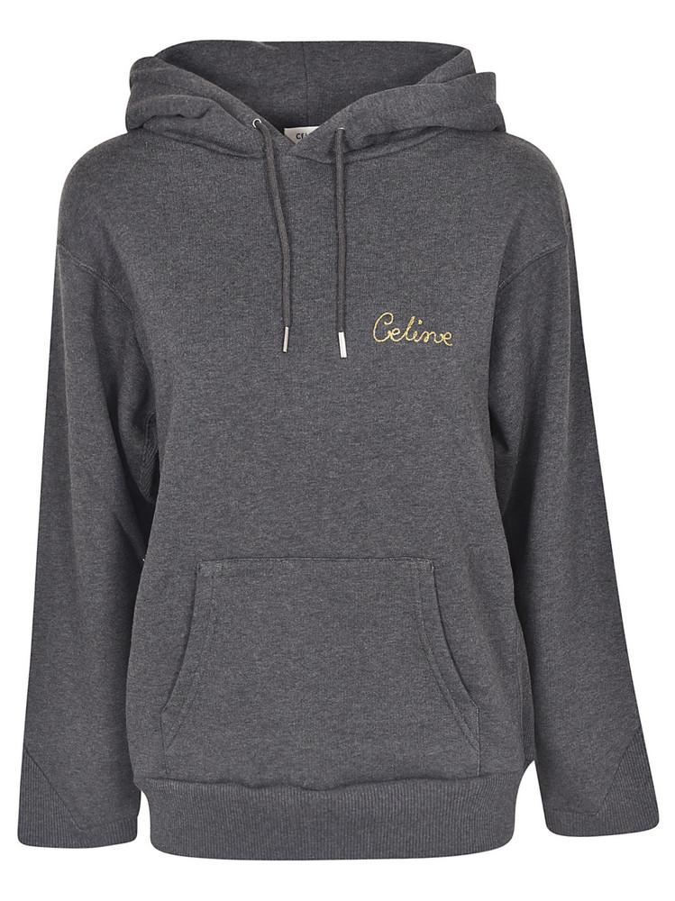 Celine Oversized Jersey Hoodie in grey