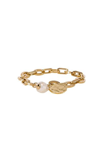 joolz by Martha Calvo The Delos Charm Bracelet in gold / metallic