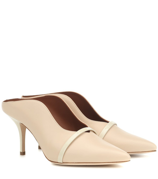Malone Souliers Constance 70 leather mules in neutrals