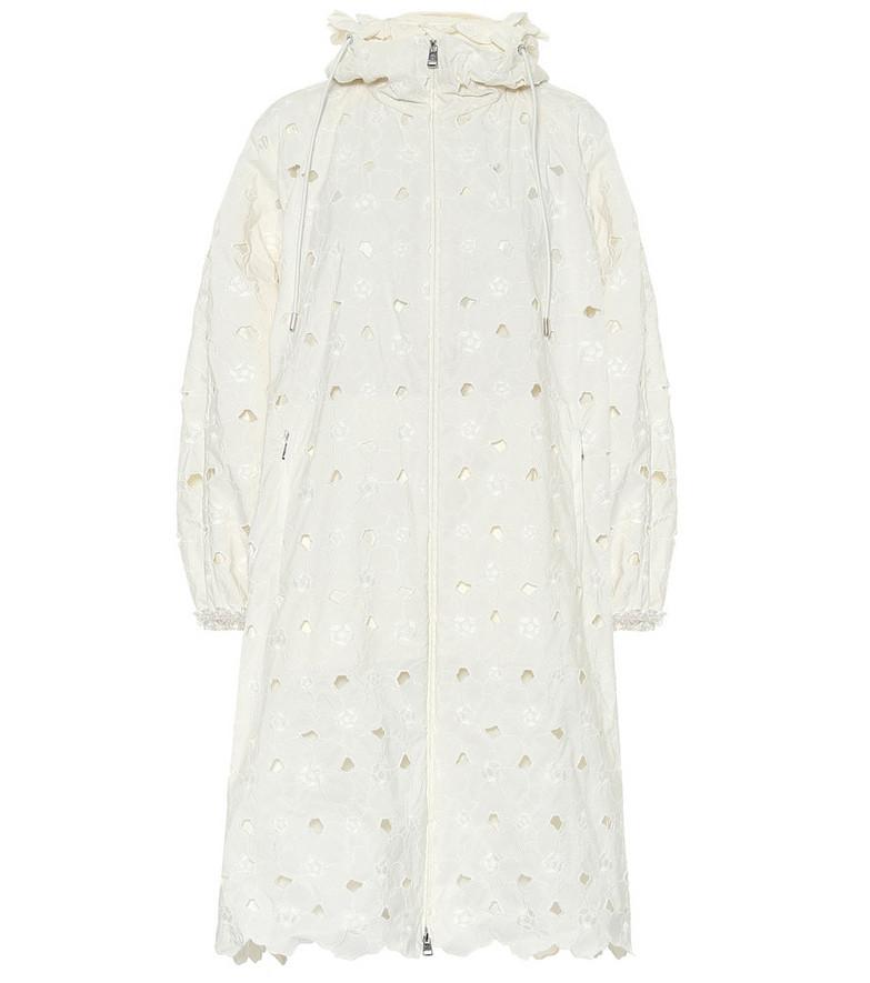 Moncler Genius 4 MONCLER SIMONE ROCHA Zaleia coat in white