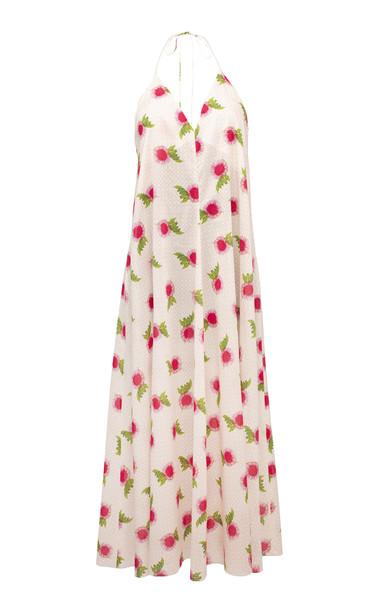 Lake Studio Floral Cotton Midi Dress Size: 38