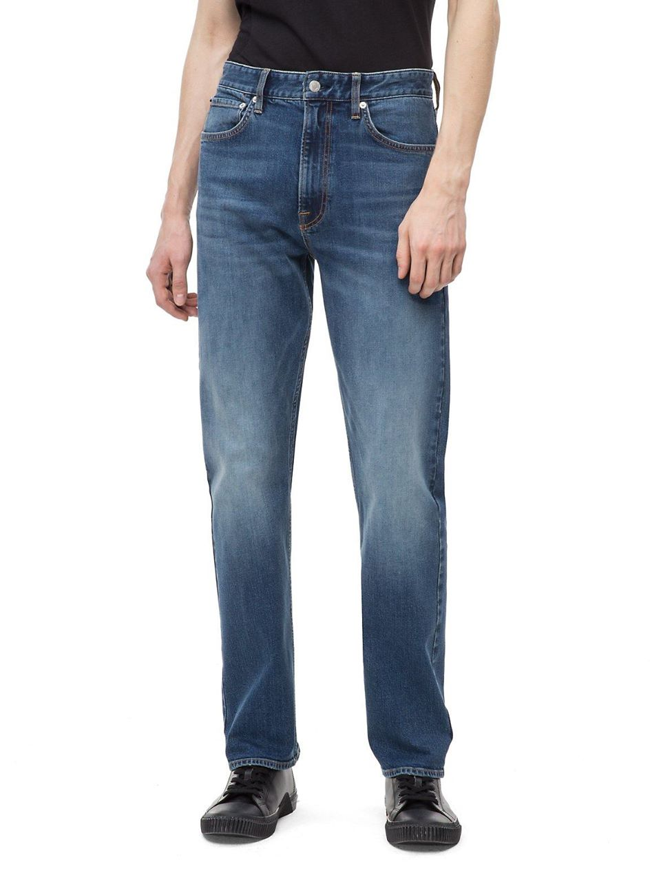 Relaxed Straight Houston Mid Blue Jeans