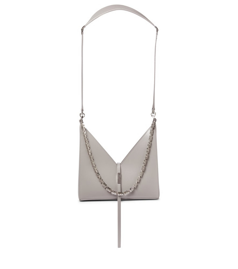 Givenchy Cut Out Small leather crossbody bag in grey