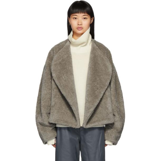 Toteme Grey Faux-Fur Bellac Jacket