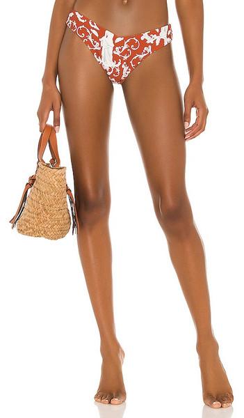 WeWoreWhat Delilah Bikini Bottom in Rust in multi