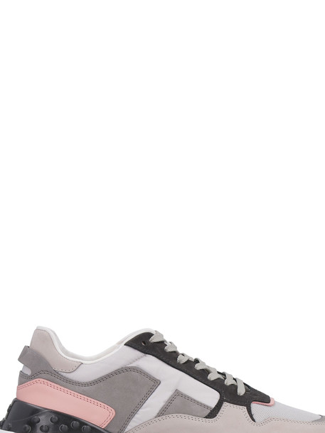 Tod's Nubuck And Leather Sneakers in grey