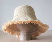 hat,sun hat,summer hats,frayed hat,vacation outfits,summer outfits,summer hat,straw hat,raffia hat,raffia sun hat,fringe hat,bucket hat,packable hat